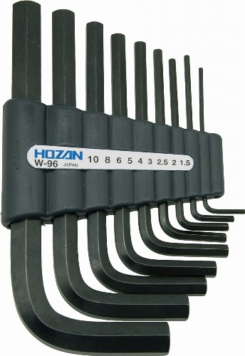 ホーザン(HOZAN) アーレンキー キーレンチ 六角レンチセット 9本セット 収納ホルダー付 対辺サイズ:1.5/2/2...