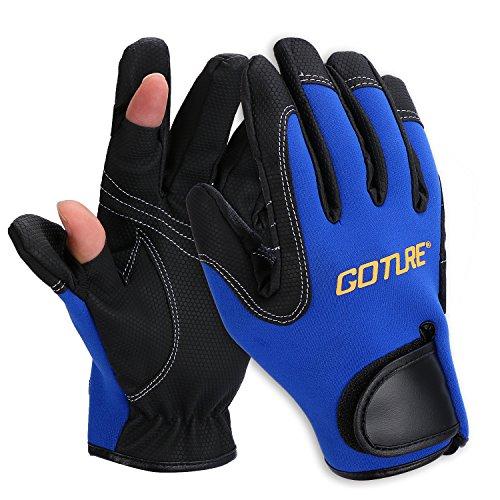 Goture(ゴチュール) フィッシンググローブ 2本指出し メンズ グローブ 指だし 釣り用 手袋 穴あき アウトド...
