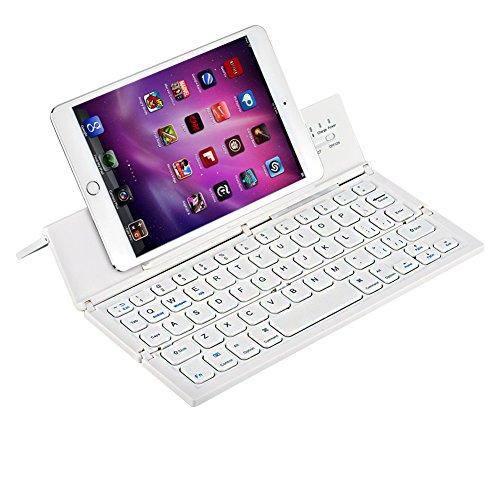 Bluetoothキーボード 折り畳み式WUUDI ワイヤレスキーボード 軽量 薄型Windows/ IOS/Android/に対応 スタンド機能付き