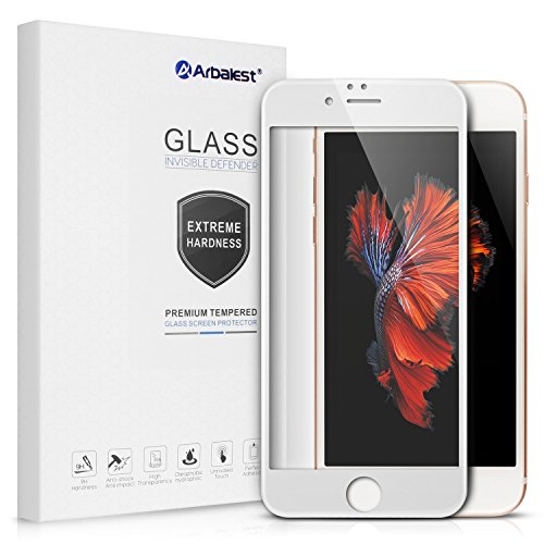 Arbalest iPhone6 6s 4.7インチ用 日本板硝子 強化ガラス 全面 液晶保護 フィルム 3D Touch対応 硬度9H 気泡防止 白