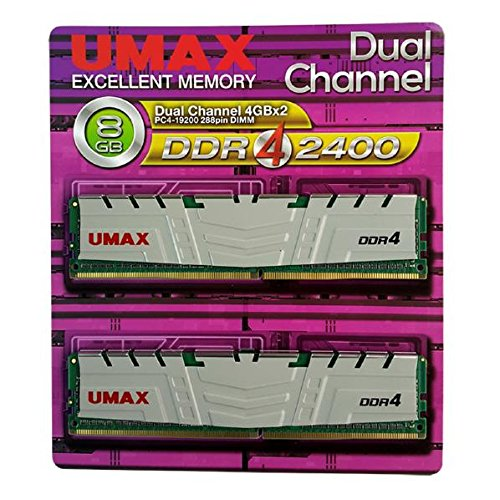 UMAX デスクトップ用DDR4メモリ DDR4-2400(4GB×2枚) ホワイト DCDDR4-2400-8GB HS