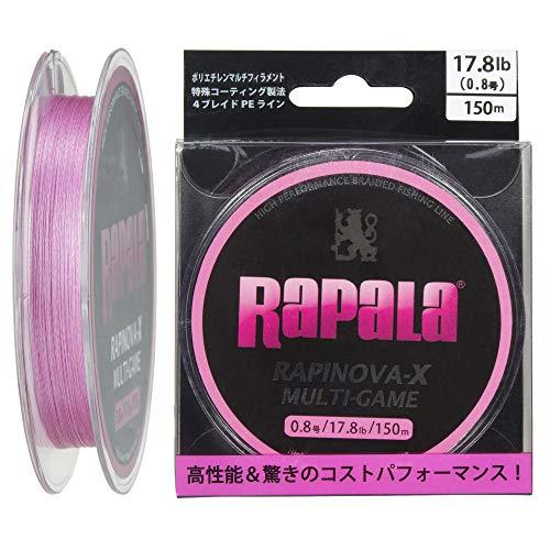 ラパラ(Rapala) ラピノヴァX マルチゲーム 150m 0.8号 17.8lb ピンク Rapinova-X Multi Game 150M . RLX150...