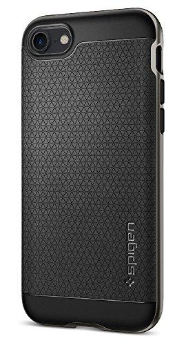 【Spigen】 iPhone7ケース, ネオ・ハイブリッド  米軍MIL規格取得 二重構造 バンパー  アイフォン 7 用 カバー (iPhone7, ガンメタル)