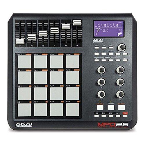 MPD26 USB/MIDIパッドコントローラー Akai Professional社【並行輸入】 DEAN FUJIOKA さんのオススメ機材は「AKAI MPD26」【徹底紹介】プロの作曲家・アーティストの買ってよかったオススメ機材・プラグイン!エンジニア・DTMerは必見!【DTM・REC】