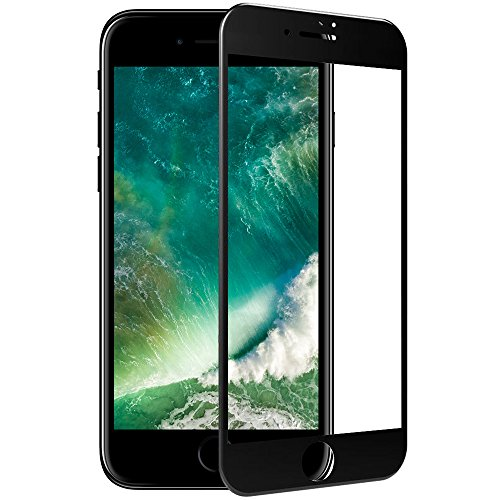 TC JOY iPhone7 Plus 強化ガラス保護フィルム 3D曲面加工 全面液晶保護 日本製素材 ブラック