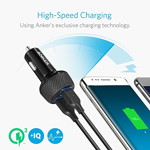 Anker PowerDrive Speed 2 (Quick Charge 3.0 & Power IQ対応 39W 2ポート カーチャージャー) 【Quick Char...
