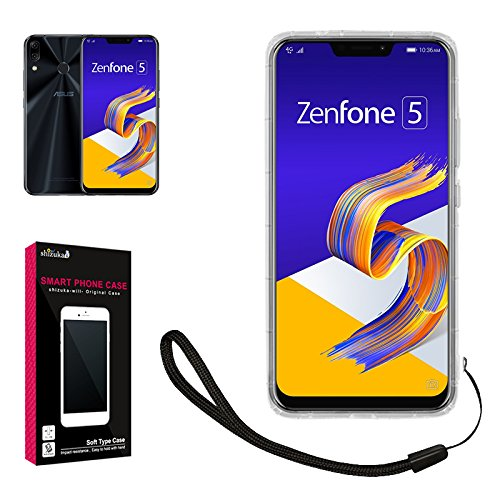 【 shizuka-will- 】ASUS Zenfone 5 ZE620KL ケース TPU 高透明 耐衝撃 衝撃吸収 ストラップ付 Zenfone5 ZE...