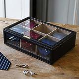 ネクタイケース 収納 ディスプレイケース コレクションケース ネクタイ収納ボックス (最大6本収納可能)