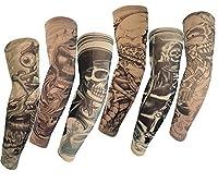 (AUTEK)6枚セット タトゥーアームスリーブ トライバル タトゥータイツ タトゥーストッキング