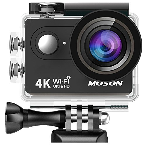 MUSON(ムソン)【メーカー直販/1年保証付】アクションカメラ 4K 30M防水 1200万画素 2インチ液晶画面 WiFi...