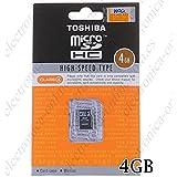 東芝 microSDHC 4GB SD-C04GR5W クラス4