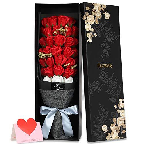 ソープフラワーの花束を結婚記念日にプレゼント