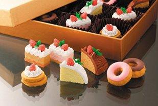 イワコー おもしろ 消しゴム NO1 ケーキ セット ケシゴム (7個入り)