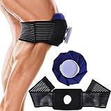 アイシング 氷のう アイスバッグ 氷嚢 サポーター スポーツの 背中 腰 頭 関節 首 膝 の怪我を鎮痛する 膝の痛みの軽減 (ブルー)