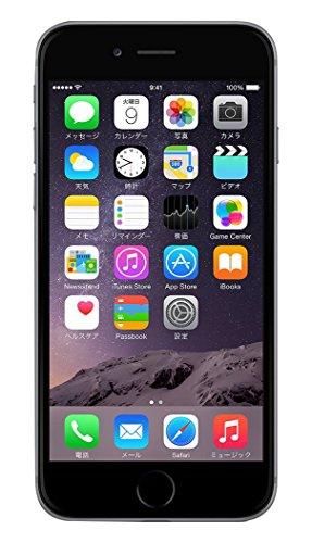 Apple au iPhone6 16GB A1586 スペースグレイ [MG472J/A