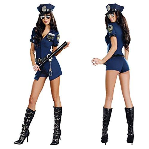 Cutershower ハロウィン 仮装 コスチューム セクシー ポリス 警官 婦人警官 コスプレ