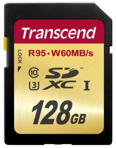 Transcend SDXCカード 128GB UHS-I U3対応 (最大読込速度95MB/s,最大書込速度60MB/s) U3シリーズ 4K動画撮影 国内正規品 無期限保証 TS128GSDU3