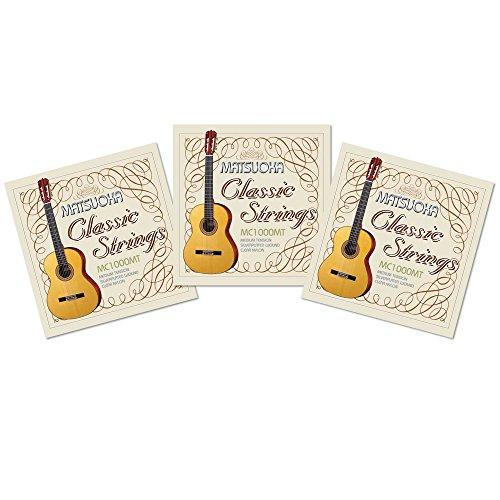 松岡良治 クラシックギター弦 MC1000-MT (ミディアムテンション) おまとめ3セットパック 【MC1000MT】