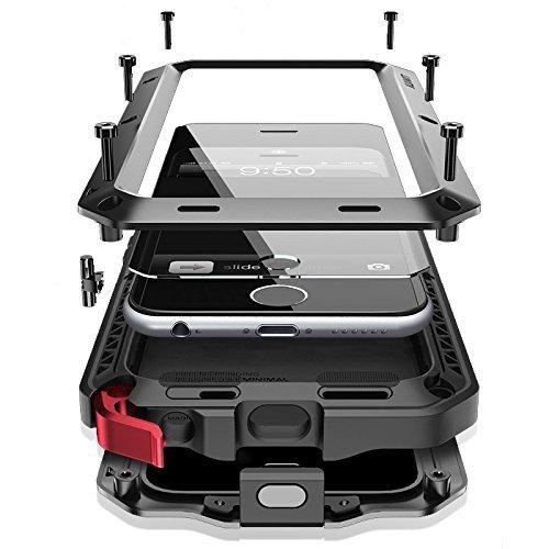 iPhone6/6s 4.7インチ用ケース 液晶保護強化ガラスフィルム付き 生活防水/防塵/耐衝撃 アウトドア スポーツ ケース アイフォン6/6s 対応 ブラック