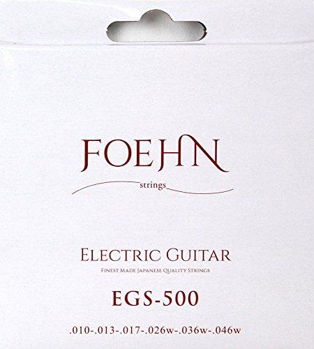 FOEHN EGS-500×6セット Electric Guitar Strings Regular light エレキギター弦 10-46 【199円~】安いエレキギター弦特集! 値段を気にせず常に新しい弦で練習できるおすすめ格安・激安弦!レビュー・感想【6弦、7弦、コーティング弦】