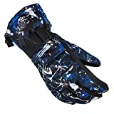 [X.A] スキー グローブ スノボ グローブ スキー 手袋 登山 手袋 防寒グローブ 防水 防寒 保温 通気性 サイズ選択可 (ブルー, Lサイズ(大人))