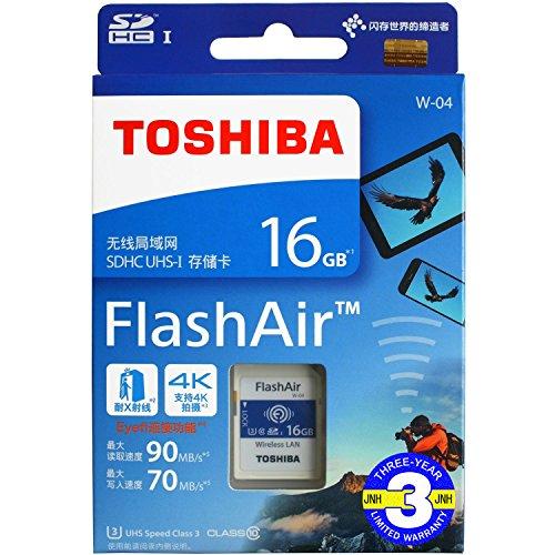 FlashAir 16GB 基本性能と無線転送速度が進化した最新世代東芝 TOSHIBA Wi-Fi SDHCカード 日本製【3年保証...