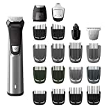 Philips Norelco MG7750/49 Multigroom 7000 Face Styler and Grooming Kit, 23 Trimming Pieces, DualCut Technology, Fully Washable, Reinforced Guards, Rechargeable Battery, Stainless Steel Design 141[並行輸入]