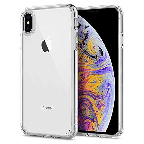 【Spigen】 スマホケース iPhone XS Max ケース 6.5インチ 対応 全面クリア 耐衝撃 米軍MIL規格取得 ウルトラ・ハイブリッド 065CS25127 (クリスタル ・クリア)