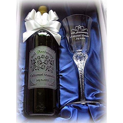 名前入りワインとグラスは還暦を迎えるお母さんに人気のギフト