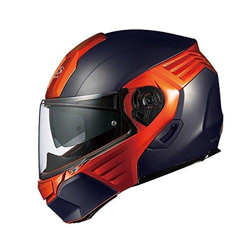 オージーケーカブト(OGK KABUTO)バイクヘルメット システム KAZAMI フラットブラック/オレンジ (サイズ:L) KAZAMI
