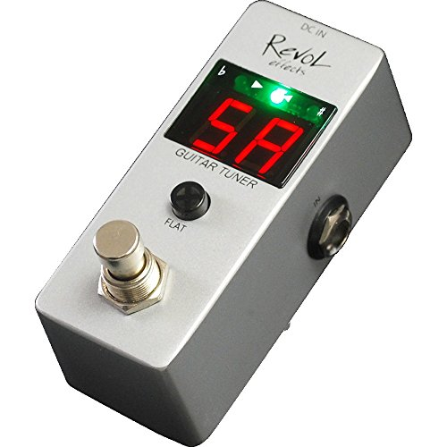 Revol effects レヴォルエフェクツ ペダルチューナー GUITAR TUNER EPT-01 【1,699円~!】小さくて安いチューナー特集!エフェクターボードに邪魔にならないコンパクトなミニサイズのオススメペダル型チューナー!