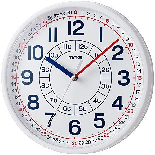 MAG(マグ) 掛け時計 ホワイト 280x280x49mm 知育時計 よ~める おうちのかたへのアドバイスシート入り W-736...