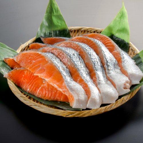 【小針水産】 銀鮭(サケ) 切り身 大切り10切(5切真空パックx2)