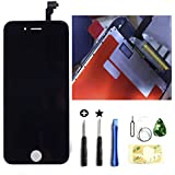 iPhone6s 4.7インチ交換修理 フロントパネル(バック) デジタイザーLCD スクリーン 3Dタッチスクリーン液晶パネル 修理工具(パーツ)付き 割れフロントガラスデジタイザ カスタムパーツ(黒い/ブラック)。