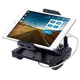 Smatree DJI Mavic Pro/ Spark 受信機用ブラケット, スマホ/タブレットホルダー,Apple USB充電ケーブル( MFI認証品)付き,ネックストラップ 360°回転 分解可能 日本語仕様書付き