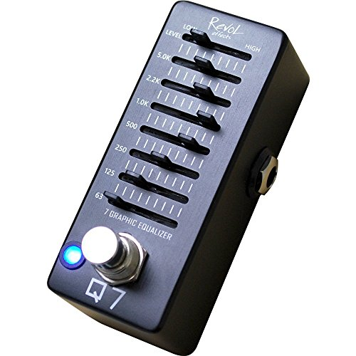 Revol effects レヴォルエフェクツ エフェクター 7バンドグラフィックイコライザー Q7 EEQ-01 【RevoL effects一覧・動画あり】3000円で買えるエフェクターが安くて小さくて音も良さそう!