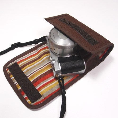 suono(スオーノ) ハンドメイド Nikon1 J5ケース-標準パワーズームレンズ用(ココア)