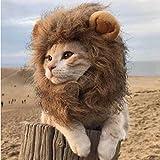 DBMART オシャレなペット用帽子 可愛いライオンコスプレキャップ 凛々しいライオンに大変身 ライオンのたてがみ(耳付き) ペット 着ぐるみ 着脱簡単 マジックテープ付き (M)