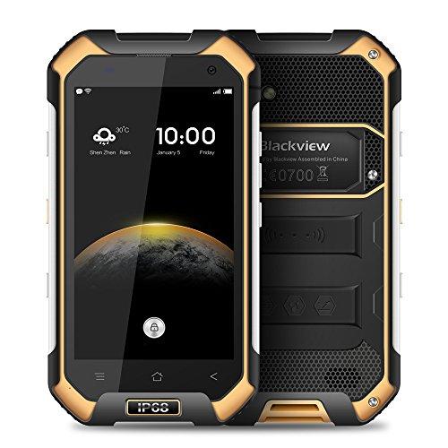 Blackview BV6000防水スマートフォンIP68ゴリラガラス3耐衝撃防塵アンドロイド6.0 3GBのRAM 32GBのROM 4.7インチ屋外の携帯電話 (オレンジ)