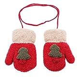 JIOLK 手袋 レディース かわいい グローブ 指なし 保温性抜群 防寒 防寒手袋 裏起毛 クリスマスツリー ぬいぐるみ 冬 クリスマス お誕生日 プレゼント