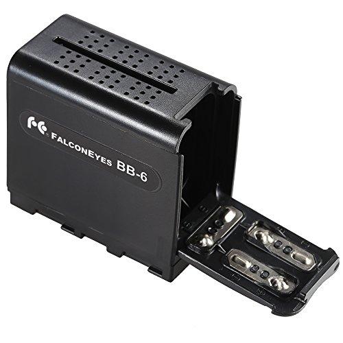 Andoer BB-6 6個 AA バッテリーパック・バッテリーケース・バッテリホルダ Power as NP-F シリーズのバッテリー for LED ビデオライト パネル・モニタ用