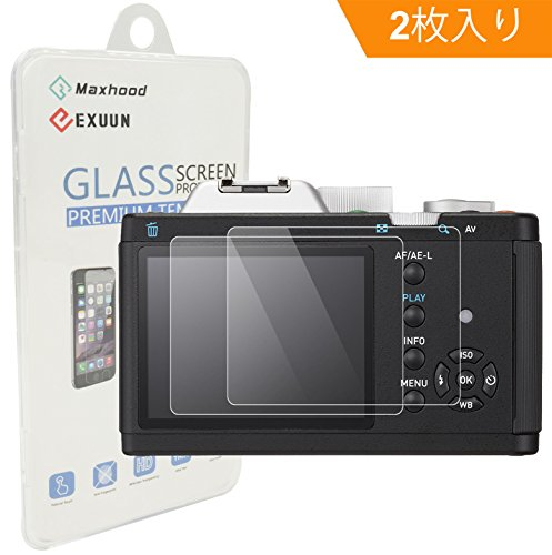 【Maxhood】(2枚入り) Pentax K-01 強化ガラススクリーンプロテクター、9H硬度0.3mm 超薄型液晶カバー強化ガラス保護フィルム (K-01)