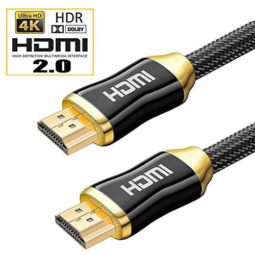 ES-Tune ハイスピードHDMIケーブル HDMI2.0 3840x2160P 4K高解像度対応 HDR対応 18gbps高速伝送 21:9 ホームシアター PS4 PC XBOX Switch Blue-Ray動作確認済み