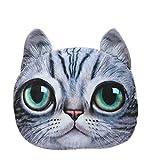 (ビグッド)Bigood ジュニア枕 抱きまくら 寝相 ぬいぐるみ・ふわふわ・猫顔・可愛い 出産ギフト・プレゼント背もたれ クッション ブルー