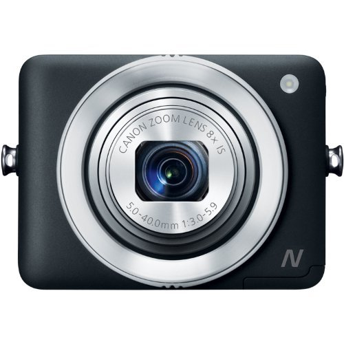 【並行輸入品】Canon PowerShot N 12.1 MP CMOS Digital Camera with 8x Optical Zoom and 28mm Wide-Angle Lens (Black)