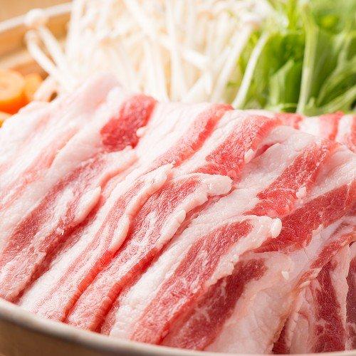 【イベリコ豚 しゃぶしゃぶ用】本場スペイン産 バラスライス 500g 鍋 冷しゃぶ 豚肉
