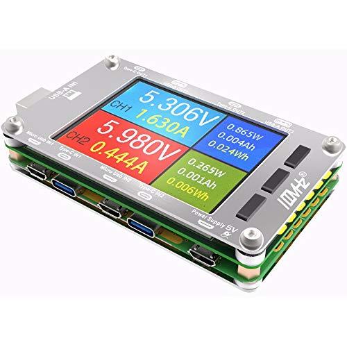 T50N USBデュアルチャンネルパワーモニタPD QC3.0 QC2.0テスタ