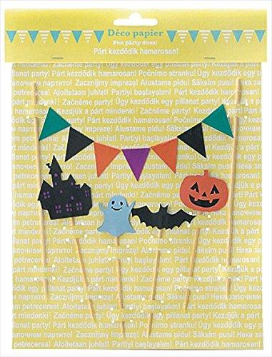 丸和貿易 ピック パーティー デコパピエ パーティピック ハロウィン 5個セット 400660704