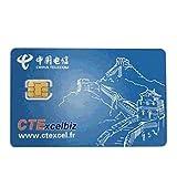 中国電信 China Telecom CTExcelbiz ヨーロッパ国際 GSM WCDMA 4G プリペイド 携帯電話 Nano SIMカード iPhone 4s/5/5s/6/6s Plus対応