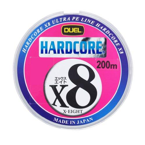 デュエル(DUEL) ライン(PE): HARDCORE X8 200m 1.0号 : 1m5mマーキング&10mカラーチェンジ